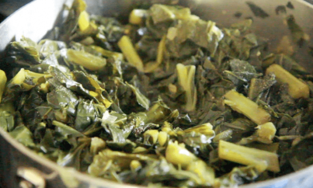 Learn how to cook vegetarian collard greens